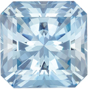 Highly Desirable Aquamarine Genuine Loose Gemstone in Radiant Cut, 1.67 carats, Vivid Sky Blue, 7.3 mm