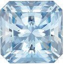 Highly Desirable Aquamarine Genuine Loose Gemstone in Radiant Cut, 1.67 carats, Vivid Sky Blue, 7.3 mm