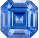 Highly Desirable Genuine Loose Blue Sapphire Gemstone in Emerald Cut, 1.13 carats, Medium Blue, 5.9 x 5.9 mm