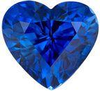 Hot Genuine Loose Blue Sapphire Gemstone in Heart Cut, 1.27 carats, Rich Royal Blue, 6.3 x 5.9 mm