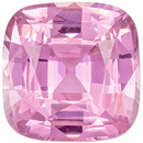 Popular Baby Pink Sapphire Gemstone, Pure Baby Pink Color in Chic Cushion Cut, 6.1 x 6.0 mm, 1.32 carats