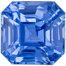 Highly Low Price on  Genuine Loose Blue Sapphire Gem in Asscher Cut, 8 x 7.9 mm, Cornflower Blue Color, 3.57 carats