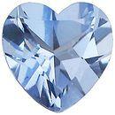 Imitation Aquamarine Heart Cut Stones