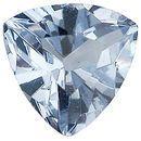Imitation Aquamarine Trillion Cut Stones
