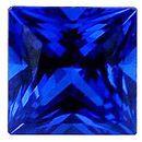 Imitation Blue Sapphire Princess Cut Stones