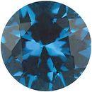Imitation Blue Zircon Round Cut Stones