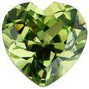 Imitation Peridot Heart Cut Stones