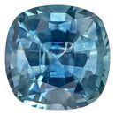 Impressive Gem  Blue Green Sapphire Genuine Gemstone, 1 carats, Cushion Shape, 5.5 mm