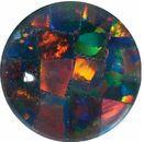 Gilson Created Black Mosiac Opal Round Cut in Grade GEM