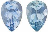 Fiery Aquamarine Matching Gemstone Pair in Pear Cut, 3.3 carats, Medium Pure Blue, 10 x 6.7 mm