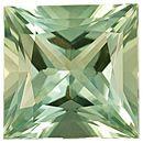Loose Green Beryl Gemstone in Princess Cut, 25.94 carats, 18 x 18 mm Displays Rich Green Color