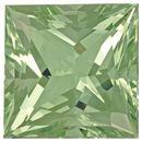 Impressive Green Beryl Gemstone in Princess Cut, 42.77 carats, 21.1 mm Displays Rich Green Color