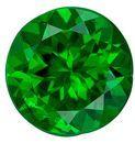 Loose Tsavorite Green Garnet Gemstone, 1.28 Carats, Round Shape, 6.7 mm, Fine Grass Green Color
