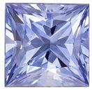 Loose Natural  Blue Sapphire Gemstone, 0.8 carats, Princess Shape, 5 mm, Magnificent Gem