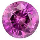 Loose Pink Sapphire Gemstone, Round Cut, 0.32 carats, 3.9 mm , AfricaGems Certified - A Fine Gem