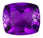 Loose Purple Amethyst Gemstone, Cushion Cut, 13.37 carats, 17.1 x 14.9 mm , AfricaGems Certified - A Beauty of A Gem
