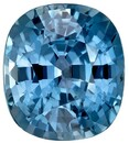 Loose Stone Blue Green Sapphire Cushion Shaped Gemstone, 1.29 carats, 6.3 x 5.5mm - Low Price