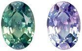 Loose Total Color Change Alexandrite Gemstone, 0.52 Carats, Oval Shape, 5.8 x 4.1mm, Stunning Total Color Change Color