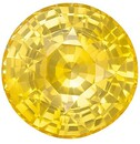 Loose Yellow Sapphire Gemstone, 2.52 Carats, Round Shape, 7.9 mm, Excellent Pure Yellow Color