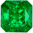 Lovely Genuine Emerald Gem in Radiant Cut, 8.5 x 8.5 mm in Gorgeous Vivid Rich Green, 2.82 carats