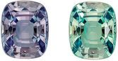 Gubelin Certified Genuine Loose Alexandrite Gem in Cushion Cut, 7.54 x 6.1 x 3.91 mm, Color Change Teal to Medium Eggplant, 1.53 carats