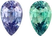 Gubelin Certified Genuine Alexandrite Gem in Pear Cut, 8.19 x 5.12 x 3.53 mm, Color Change Open Teal to Medium Eggplant, 1.09 carats