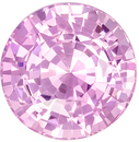 Lovely Rare No Heat GIA Certified Pink Sapphire Loose Gem, Round Cut, Light Baby Pink, 7.47 x 7.6 x 5.03 mm, 2.19 carats