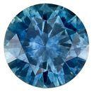 Low Price  Blue Green Sapphire Genuine Gemstone, 0.71 carats, Round Shape, 5.4 mm