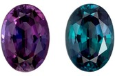 Low Price on Alexandrite Oval Shaped Gemstone, 0.62 carats with Gubelin Cert, 6.03 x 4.35 x 2.96 mm - Truly Stunning