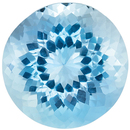 Low Price on  Aquamarine Gem in Round Cut, 8 mm in Gorgeous Vivid Sky Blue, 1.8 carats