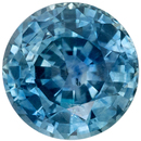 Low Price on  Blue Green Sapphire Gem in Round Cut, 6 mm in Gorgeous Teal Blue Green, 1.17 carats