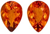 Low Price on Citrine Pear Shaped Gemstones Matching Pair, 3.59 carats, 9.9 x 7mm - Deal on Gem