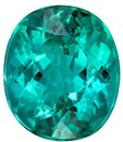 Great Colored Gem  Blue Green Tourmaline Genuine Gemstone, 3.62 carats, Oval Shape, 10 x 8.7 mm