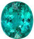 Great Colored Gem  Blue Green Tourmaline Genuine Gemstone, 3.62 carats, Oval Shape, 10 x 8.7 mm