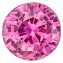 Low Price on Top Gem  Pink Sapphire Genuine Gemstone, 1.56 carats, Round Shape, 6.68 x 6.86 x 4.46 mm  with GIA Certificate