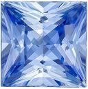 Super Bright GIA Certified Genuine Loose Blue Sapphire Gemstone in Princess Cut, 8.89 x 8.8 x 5.97 mm, Cornflower Blue, 4.57 carats