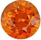Xtra Special Rare Genuine Loose Spessartite Gemstone in Round Cut, 4.5 carats, Mandarin Orange, 9.6 mm