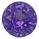 Low Price Purple Spinel Gemstone in Round Cut, 1.54 carats, 6.78 x 6.75 mm Displays Pure Purple Color