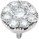 Magnificent 1/2ctw Diamond Accented Cluster Preset Peg Jewelry Finding in 14kt White Gold for SALE
