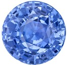 Magnificent Gem  Round Cut Genuine Blue Sapphire Gemstone, 4.23 carats, 9.4 mm , Very Bright Gem