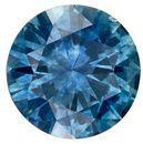 Magnificent Gem  Round Cut Natural Blue Green Sapphire Gemstone, 0.75 carats, 5.4 mm , A Must Have Gem