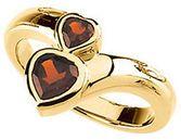 Buy Mozambique Garnet Double Heart Ring