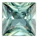Must See Blue Green Sapphire Gemstone, 4.09 Carats, Princess Shape, 8.7 mm, Excellent Teal Blue Green Color