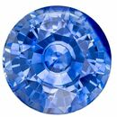 Must See Blue Sapphire Round Shaped Gemstone, 1.22 carats, 6mm - Super Great Buy