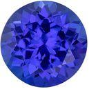 Must See Genuine Tanzanite Gem in Round Cut, 6.9 mm in Gorgeous Vivid Blue Purple, 1.71 carats