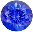 Must See Genuine Tanzanite Gem in Round Cut, 8.1 mm in Gorgeous Rich Blue Purple, 2.48 carats