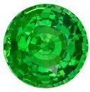Must See  Green Tsavorite Gemstone, 1.49 carats, Round Shape, 6.6 mm, A Natural Wonder