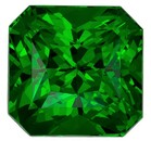 Must See  Green Tsavorite Gemstone, 1.54 carats, Emerald Shape, 6.2 x 6 mm, Hard to Find Gem