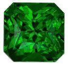 Must See  Green Tsavorite Gemstone, 1.54 carats, Emerald Shape, 6.2 x 6 mm, Hard to Find Gem