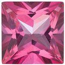 Mystic Pink Topaz Princess Cut in Grade AAA